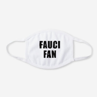 FAUCI FAN WHITE COTTON FACE MASK