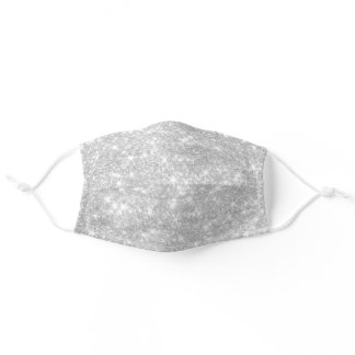 FAUX silver glitter Adult Cloth Face Mask