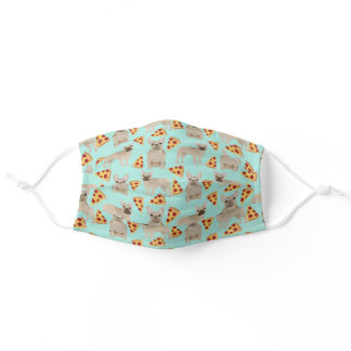 fawn frenchie mint pizza adult cloth face mask
