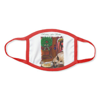 Fawn Great Dane Christmas Face Mask