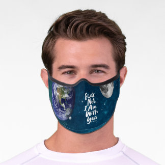 FEAR NOT, I AM with you - Christian - Isaiah 41:10 Premium Face Mask