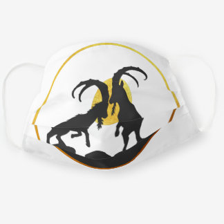 Fight Gold Mountain Goat Cloth Face Mask