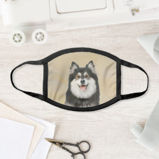 Finnish Lapphund Painting - Cute Original Dog Art Face Mask
