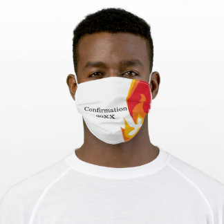 Fire and Dove Confirmation Monogram Adult Cloth Face Mask