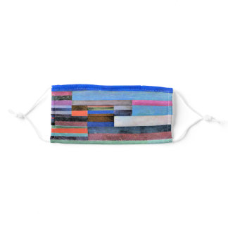Fire in the Evening, famous artwork by Paul Klee Adult Cloth Face Mask