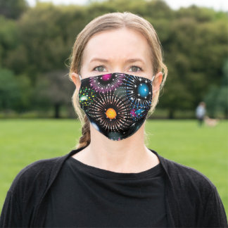 Fireworks Show Adult Cloth Face Mask