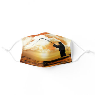 Fishing Sunset Adult Cloth Face Mask