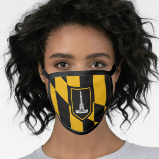 Flag of Baltimore, Maryland Face Mask