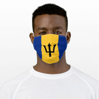 Flag of Barbados Adult Cloth Face Mask