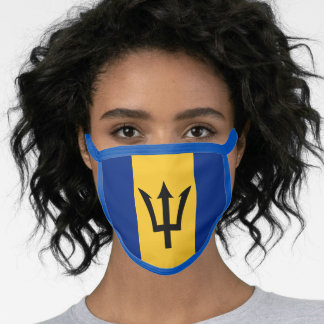 Flag of Barbados Face Mask