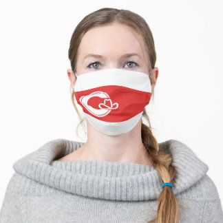 Flag of Calgary, Alberta Adult Cloth Face Mask