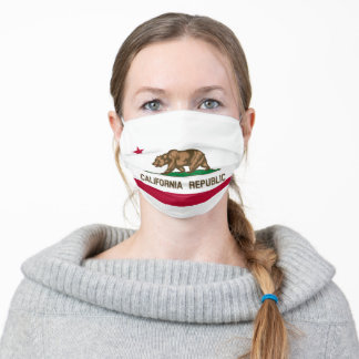 Flag of California Cloth Face Mask