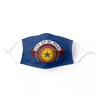 Flag of City of El Paso, Texas Adult Cloth Face Mask