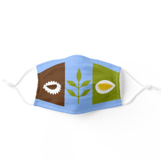 Flag of city of Fresno Adult Cloth Face Mask