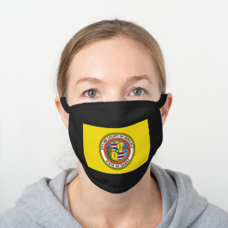 Flag of city of Honolulu, Hawaii Black Cotton Face Mask