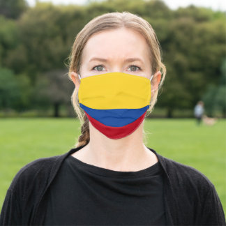 Flag of Colombia Yellow Blue Red Adult Cloth Face Mask