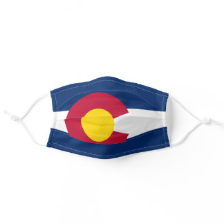 Flag of Colorado Adult Cloth Face Mask