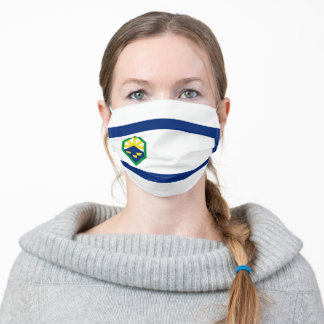 Flag of Colorado Springs, Colorado Adult Cloth Face Mask