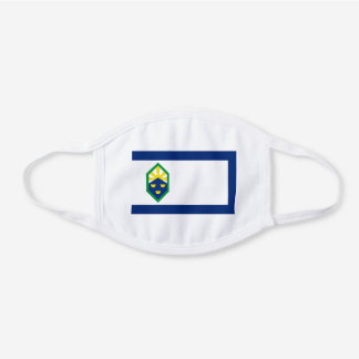 Flag of Colorado Springs, Colorado White Cotton Face Mask