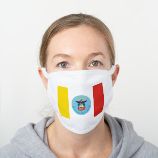 Flag of Columbus, Ohio White Cotton Face Mask
