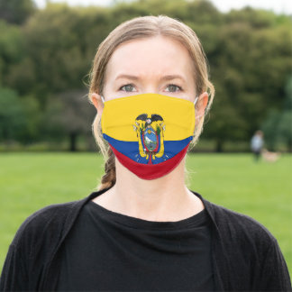 Flag of Ecuador Patriotic Adult Cloth Face Mask