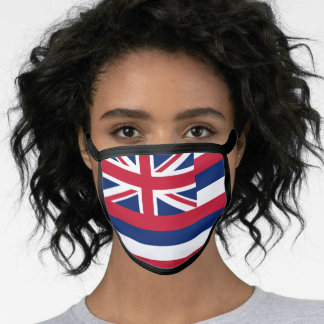 Flag of Hawaii (US State) Face Mask