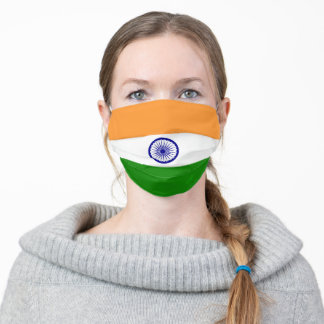 Flag of India Monogrammed Adult Cloth Face Mask