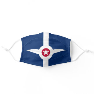 Flag of Indianapolis (Indiana) Adult Cloth Face Mask