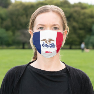 Flag of Iowa Adult Cloth Face Mask