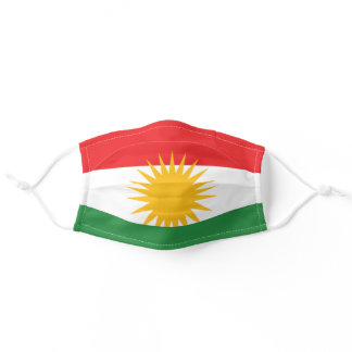 Flag of Kurdistan Adult Cloth Face Mask