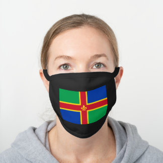 Flag of Lincolnshire Black Cotton Face Mask