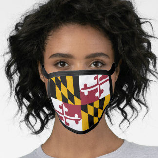 Flag of Maryland, American state flag Face Mask
