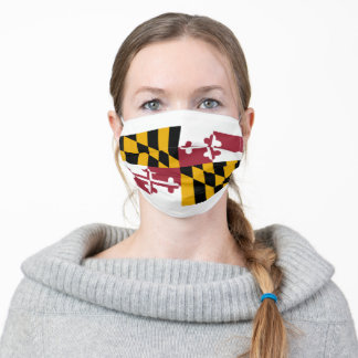 Flag of Maryland (US State) Adult Cloth Face Mask
