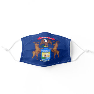 Flag of Michigan Adult Cloth Face Mask