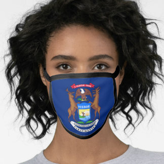 Flag of Michigan, American state flag Face Mask