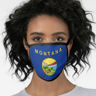 Flag of Montana, American state flag Face Mask