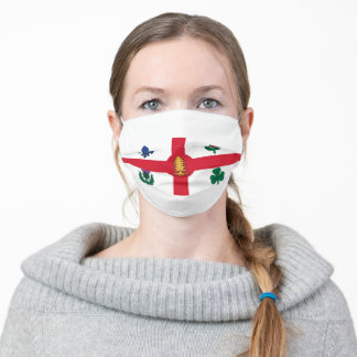 Flag of Montreal, Quebec Adult Cloth Face Mask