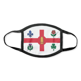 Flag of Montreal, Quebec Face Mask