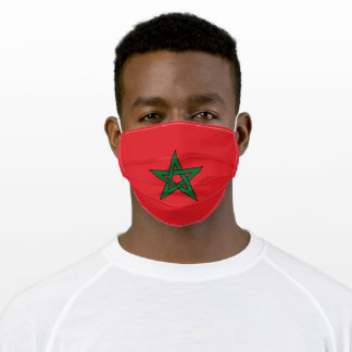 Flag Of Morocco Adult Cloth Face Mask