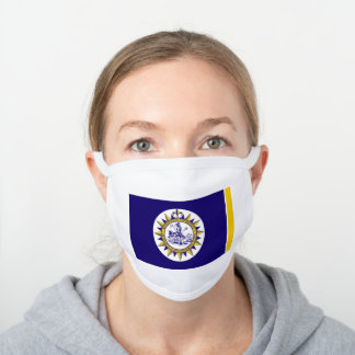 Flag of Nashville, Tennessee White Cotton Face Mask