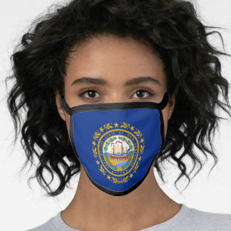 Flag of New Hampshire, American state flag Face Mask