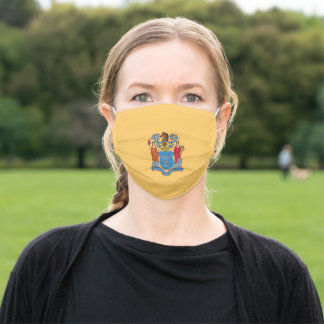 Flag of New Jersey (US State) Adult Cloth Face Mask