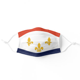 Flag of New Orleans, Louisiana Adult Cloth Face Mask