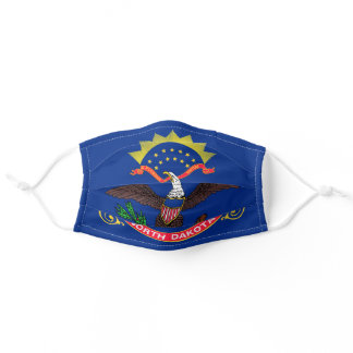 Flag of North Dakota Adult Cloth Face Mask