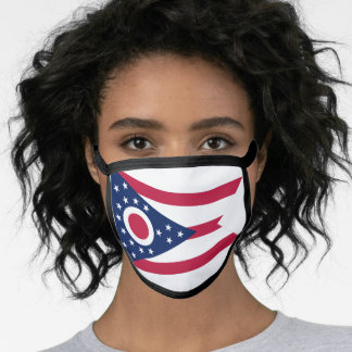 Flag of Ohio, American state flag Face Mask