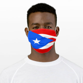 Flag of Puerto Rico Adult Cloth Face Mask
