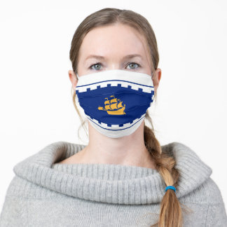 Flag of Quebec City Adult Cloth Face Mask