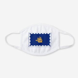 Flag of Quebec City White Cotton Face Mask
