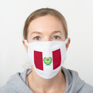 Flag of Raleigh, North Carolina White Cotton Face Mask