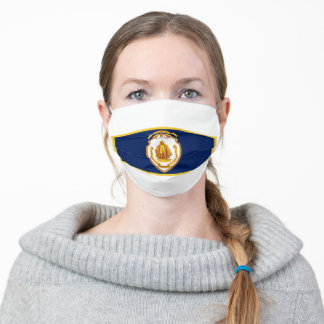 Flag of Springfield, Massachusetts Adult Cloth Face Mask